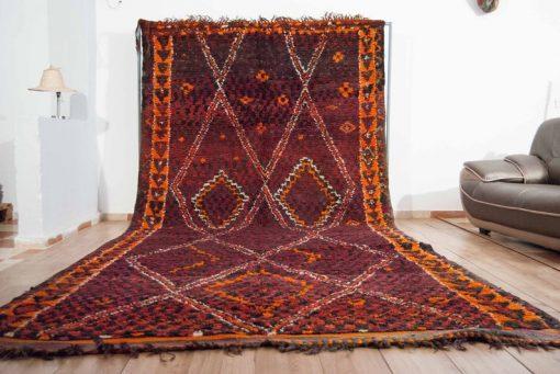 Moroccan rug 6'x13′ Vintage Beni Mguild rug, The Genuine Moroccan rug.